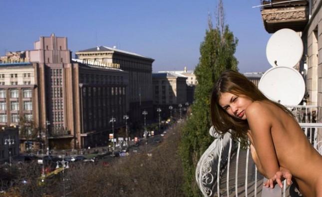 Солнечное утро над Хрещатиком. До Майдана.