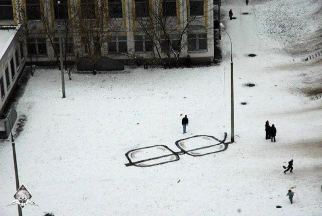 «Несущий свет, камеру и болторез». «Русский Banksy» Паша 183