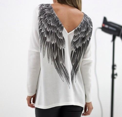 Майка с крыльями ангела