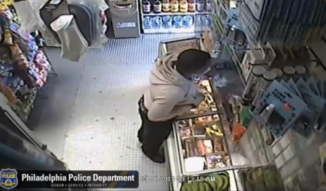 Черный дядя ограбил магазин угрожая бананом