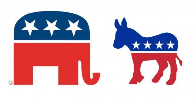 Слон и осёл символы Америки?