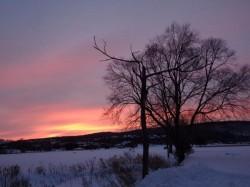 Закат, восход и снег в Алламучи