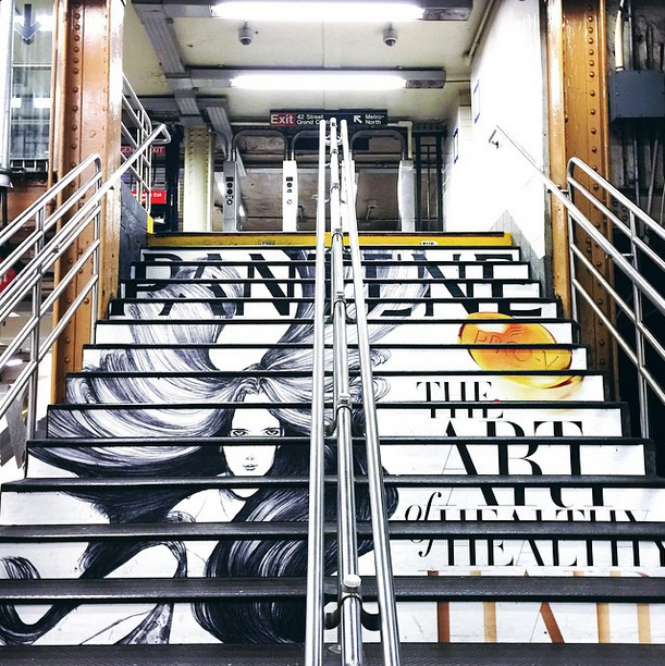 Loving these graphic stairs by the S train at GCT