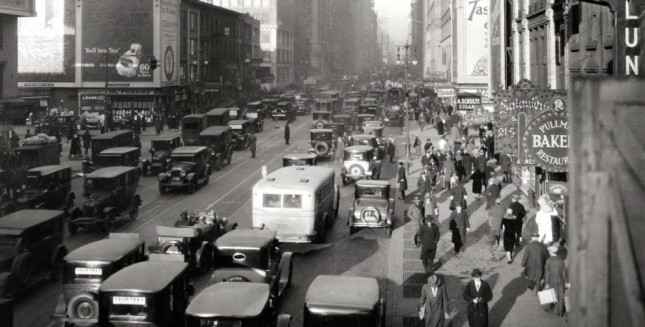 New York retro cars - for a moment back in time