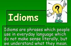 Английские идиомы