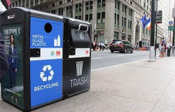 Умный мусор в NY превращается в точки WiFi  доступа + питаются от солнечных батарей