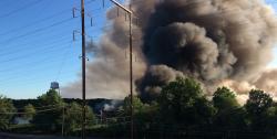 Страшный пожар в Нью-Джерси. Фото отчет
