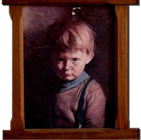 Одной из самых известных «проклятых» полотен является «Плачущий мальчик»
