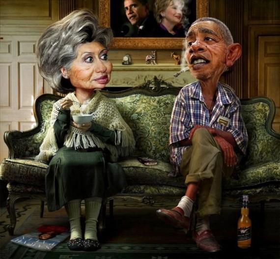 Дерзкие карикатуры на Обаму