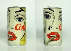 Vintage Coke cans, 1980s