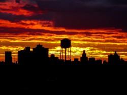 Сегодняшний закат над Бруклином.