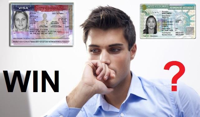 Не путайте выигрыш, визу и грин-карту.