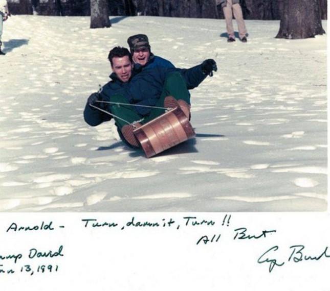 Арнольд Шварценеггер и Джордж Буш