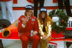"""Джеймс Хант после победы на """"Уоткинс–Глене"""". 1977. Нью–Йорк. США"""
