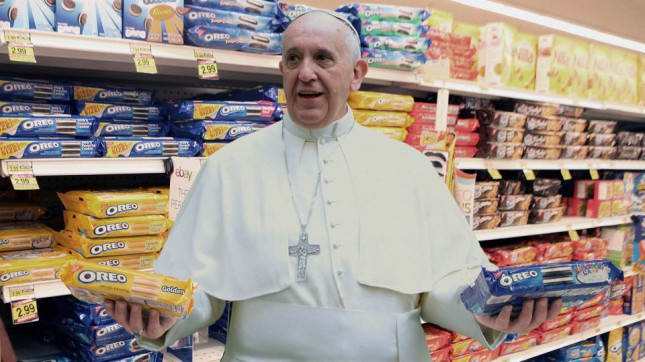Pope Francis Reverses Position On Capitalism After Seeing Wide Variety Of American Oreos.