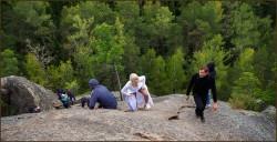 Тренд: болдеринг или  свадьба на скалах