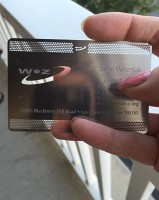 The coolest business card I've ever received
