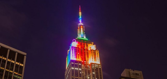 Световое шоу на Empire State Building