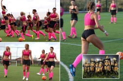 Женскую футбольную команду, играющую в нижнем белье, обвинили в сексизме