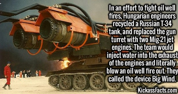 """Пожарная машина """"Ветерок""""на базе танка Т-34"""