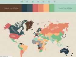 Думаешь об  эмиграции? Проверить эту Карту стоимости жизни во всем мире