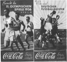Coca–Cola — спонсор Олимпийской сборной Германии, 1936 год