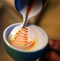Радужный кофе из Лас-Вегаса