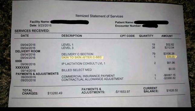 """""""подержать собственного ребенка после родов""""  - всего 40$"""