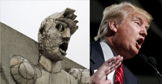 Trump Sculpture Russia