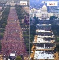 Инаугурация Обамы и Трампа