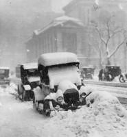 Нью-Йорк после сильного снегопада в 1917 году