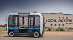 напечатанный на 3D принтере беспилотный электро микроавтобус ходит по Вашнигтону