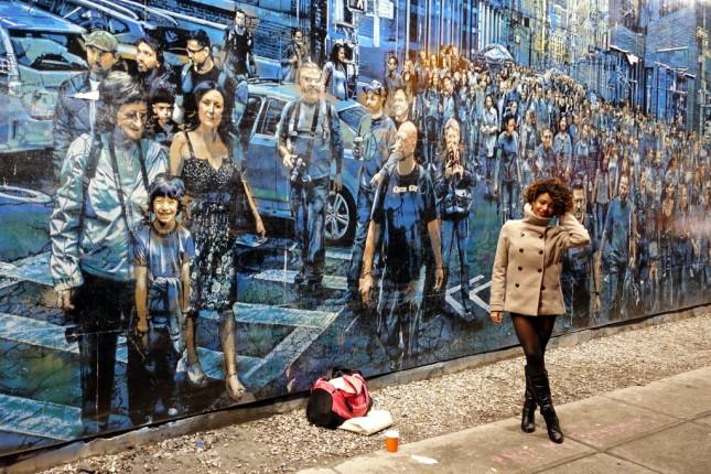 Случайные и временные красивости, граффити, скульптуры, на которые  постоянно натыкаешься во время прогулок по нью-йоркским улицам.