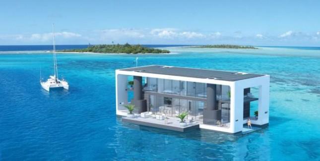 Плавающий дом люкс