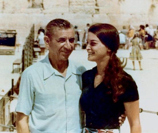 Меир Ланский с дочерью Сандрой у Стены Плача, 1971 год, Иерусалим