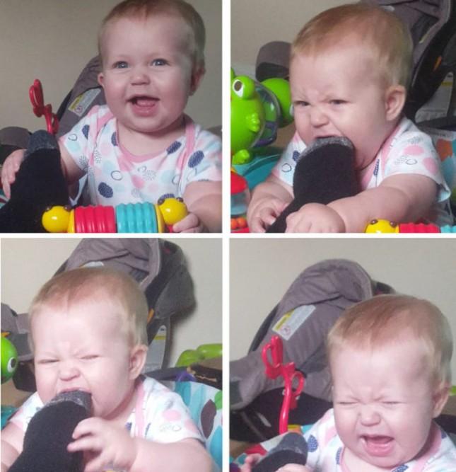 Одна из самых смешных вещей в воспитании ребенка наблюдать, как они узнают, что съедобно.. А что нет